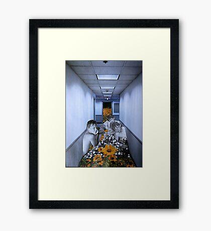 The Boys In The Hall Framed Print