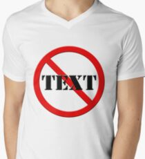 NO TEXT #0001 Mens V-Neck T-Shirt