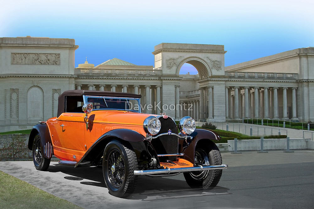 1930 Bugatti Convertible Coupe by DaveKoontz