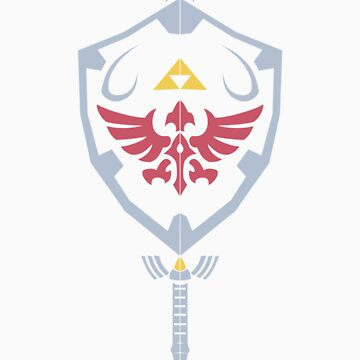 Master Sword and Hylian Shield by UeberUeberl33t