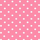 Pink polkadot iphone case by PixelRider