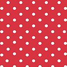 Red polkadot iphone case by PixelRider