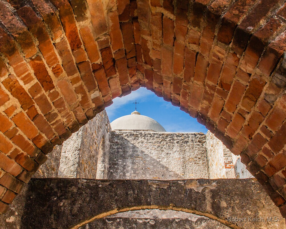 San Jaun Mission from the Convento by Robert Kelch, M.D.