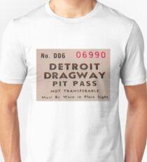 Vintage Detroit Dragway Pit Pas ca. 1965 T-Shirt