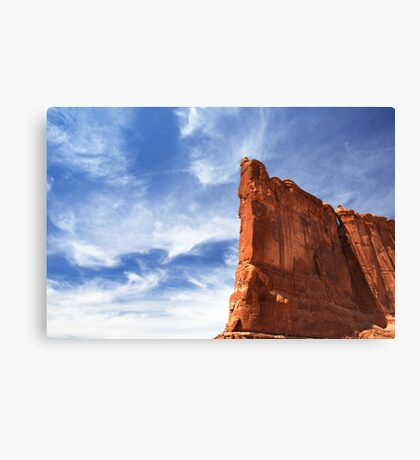 Courthouse Towers Blue Sky Canvas Print