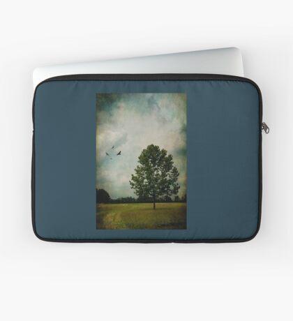 Lone Tree with Birds Laptop Sleeve
