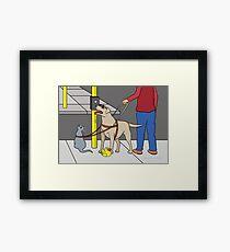 Guide Dog Guide (A Visual Gag) Framed Print
