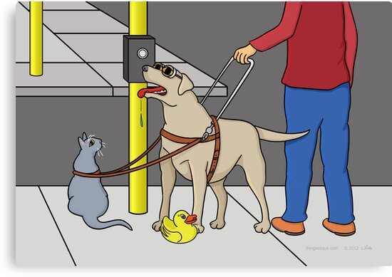 Guide Dog Guide (A Visual Gag) by Thingsesque