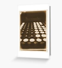 adding machine Greeting Card