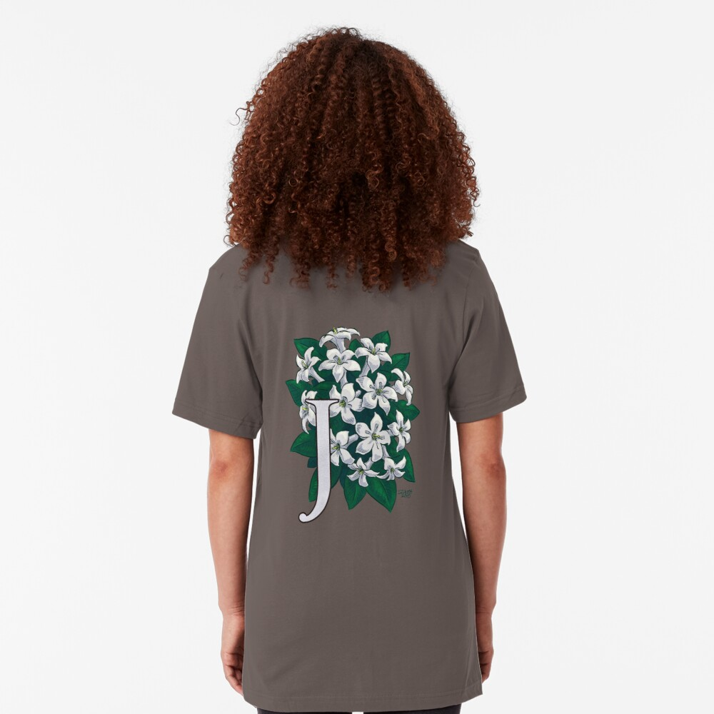 J is for Jasmine - full image Slim Fit T-Shirt