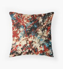 Number 102 Abstract by Mark Compton Throw Pillow