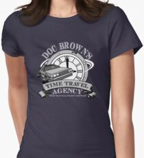 Doc Brown's Travel Agency Women's Fitted T-Shirt