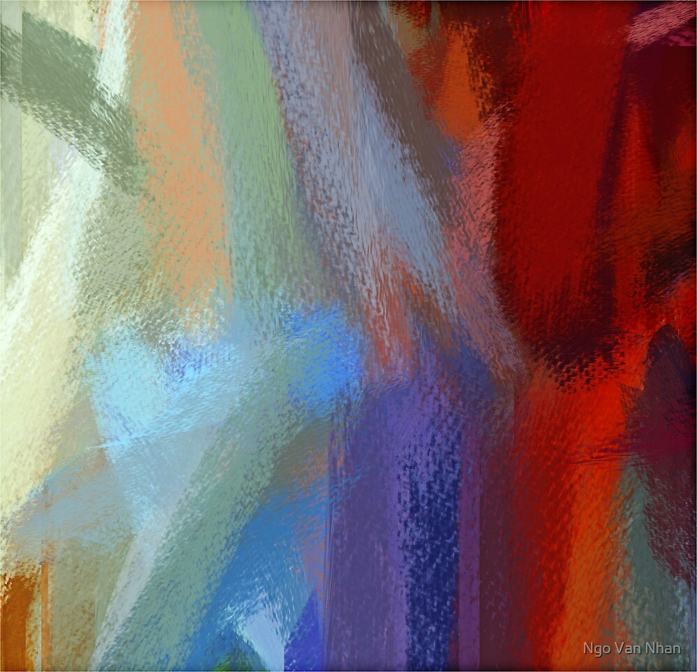 Abstract Art Painting 5 by Nhan Ngo