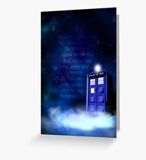 TARDIS on a Cloud Greeting Card