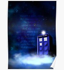 TARDIS on a Cloud Poster