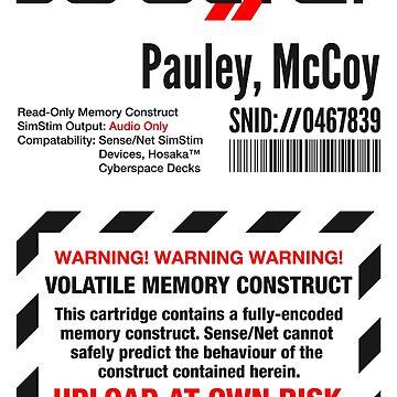 Dixie Flatline Warning Label - Sticker, White by WolfeCreative