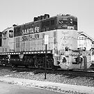 Sante Fe Trains by Tracy Riddell