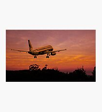 Plane departing Photographic Print