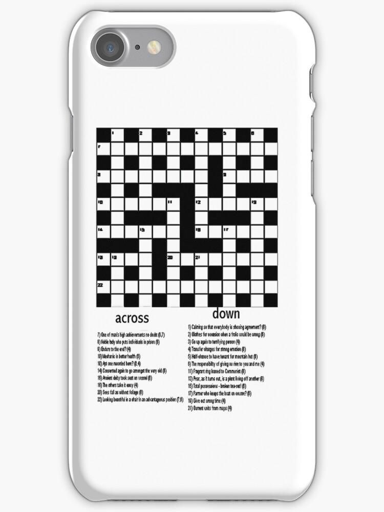 Crossword iPhone Case by Catherine Hamilton-Veal  ©