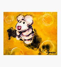 Timmy the Mouse on the Big Cheeze Photographic Print