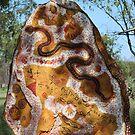 Aboriginal roadside art  by Gaylene Norton