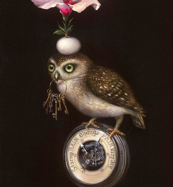 Pyramid with Owl     62 x 36 cm    2010  by Irena Aizen