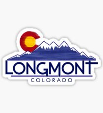 Longmont Colorado wood mountains Sticker