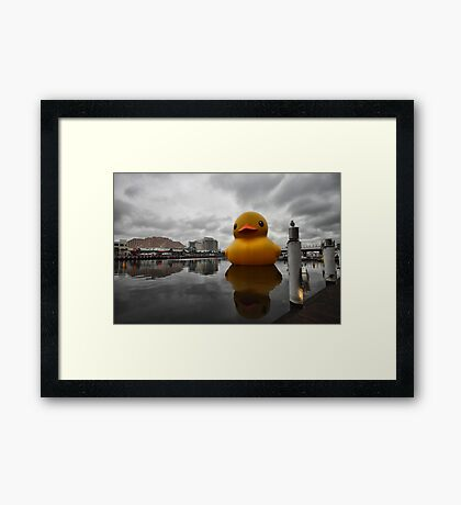 Big Duck in the City Framed Print