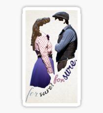 Newises Jack/Katherine 'For Sure' Sticker