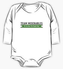 Body de manga larga para bebé Equipo Miserables
