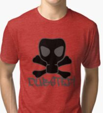 Dubstep Gas Mask Skull Tri-blend T-Shirt