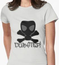 Dubstep Gas Mask Skull Womens Fitted T-Shirt
