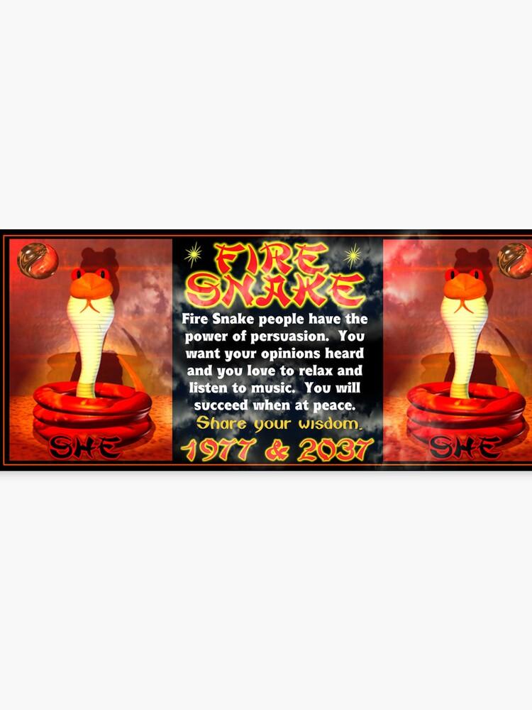 1977 2037 Chinese zodiac fire snake | Canvas Print