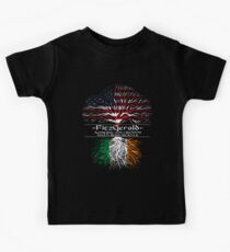 Fitzgerald - American Grown with Irish Roots Kids Tee
