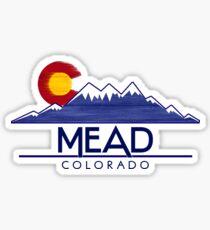 Mead Colorado wood mountains Sticker