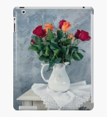 rose flowers in old-fashioned flower pot iPad Case/Skin