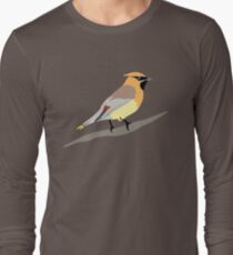 Cedar Waxwing Bird Long Sleeve T-Shirt