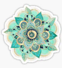 Gilded Emerald Enamel Sticker