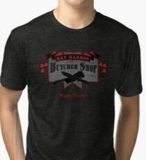 Bay Harbor Butcher Shop- Dexter Tri-blend T-Shirt