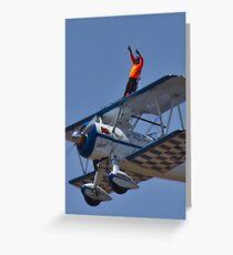 Wing Walker Greeting Card