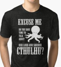Our Lord And Saviour Cthulhu Tri-blend T-Shirt