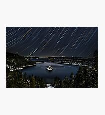 Emerald Bay Star Trails Photographic Print