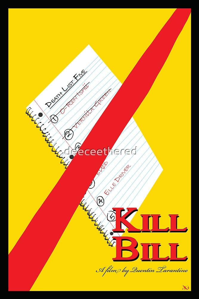 Original Kill Bill minimalist movie poster by deeceethered