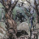 Zombie Graveyard by JohnnyGolden