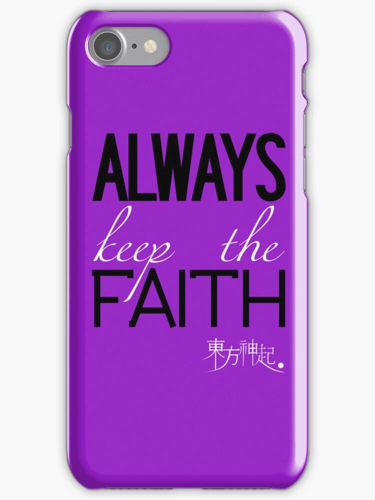 Always Keep The Faith - Purple by Badymaru