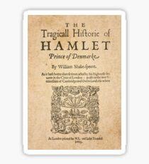 Shakespeare, Hamlet 1603 Pegatina