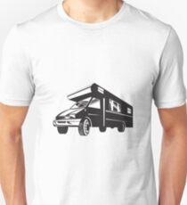 Camper Van Motor Home Retro  T-Shirt