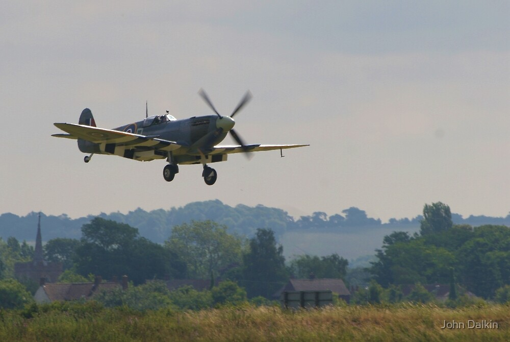 Spitfire at Duxford by John Dalkin