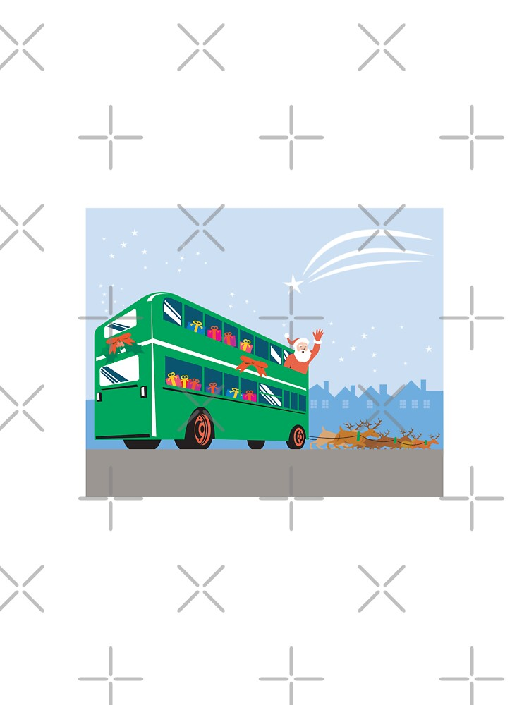 Santa Claus Double Decker Bus  by patrimonio