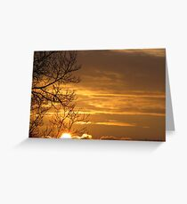 Gilded Skies Greeting Card